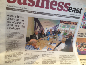 Business East front page news