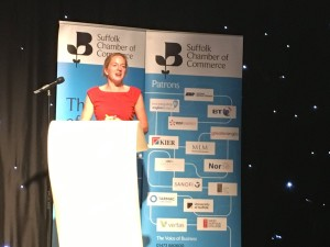 Erika gives key-note speech at Suffolk Chamber AGM