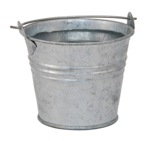 Fresh water in a miniature metal bucket