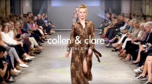 Springing onto the runway with Collen and Clare